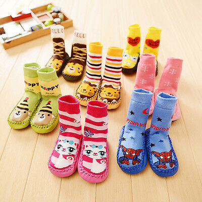 Baby Kids Toddler Girls Boys Unisex Anti-Slip Socks Shoes Slipper SOK06