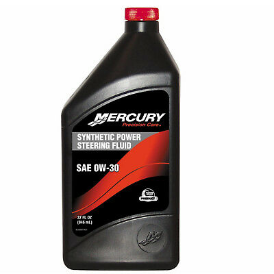 Mercury/Mercruiser New OEM FLUID-SYNTHETIC POWER STEERING 32OZ QT 92-858077K01