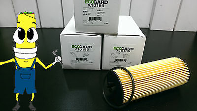 Premium Oil Filter for Mercedes Benz S63 AMG w/ 5.5L Engine 2011-2015 Pack of 3