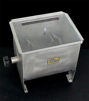 New MTN Commercial Stainless Steel Restaurant Hand Sausage Meat Mixer -32LBS