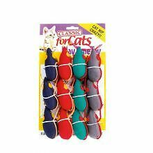 PET-803831 Classic Catnip Mouse (3 1/2) 12 Pack