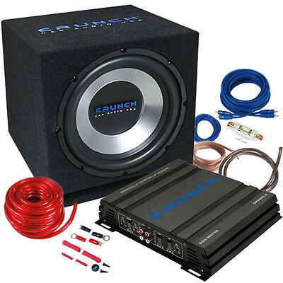 CRUNCH CBP500 Auto Car Hifi Komplett-Anlage-Set Kfz 500 Watt