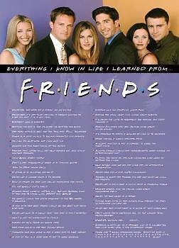 "Friends Poster ""everything I Know I Learned It From Friends"" Licensed"" Brand New"