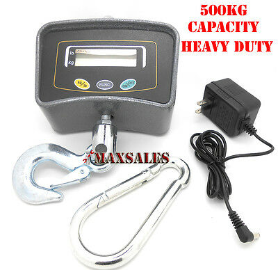 New HANGING CRANE SCALE 500K HEAVY DUTY Scale W/ AC/DC Adaptor