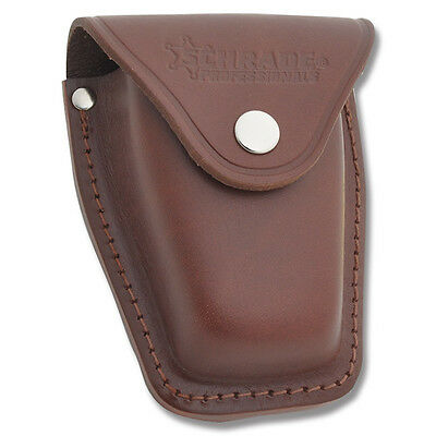 SCHRADE LEATHER SHEATH BROWN HOLSTER for HANDCUFF NEW IN BOX