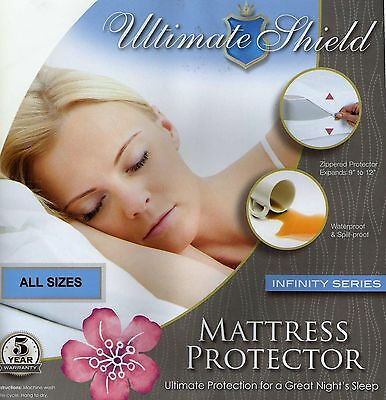 Bed Bug/allergy Relief Waterproof Mattress Cover/protector Soft Top All Sizes