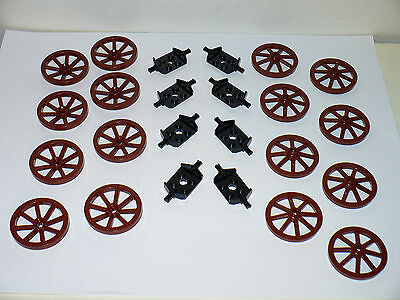 NEW LEGO WAGON CARRIAGE Parts Lot Wheels Axles Tools Farm Western City Castle