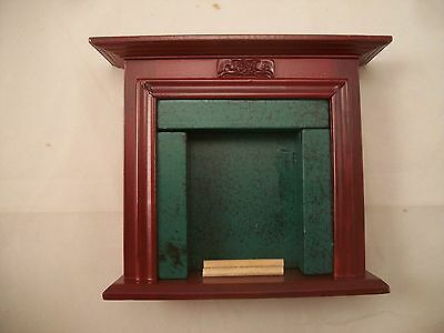 Fireplace - Mahogany D1117 miniature dollhouse furniture 1/12 scale wooden
