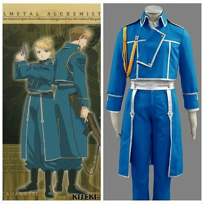 Fullmetal Alchemist Anime Army Cosplay Costume Uniform halloween Custom-made