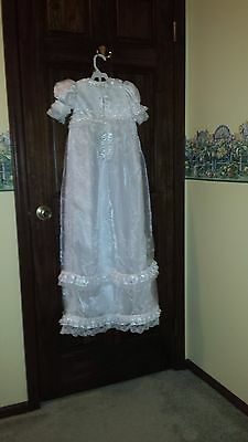 White Christening Gown Handmade Size Medium
