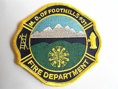 M.d. Of Foothills #31 Fire Dept. Patch, Firefighting & Rescue, Alberta, Canada