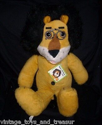 "24"" Vintage Big Hubert The Lion Harris Bank Stuffed Animal Fair Plush Toy Tag"