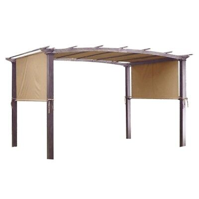 17x6.5Ft Pergola Canopy Replacement Cover Outdoor Yard Patio Tan 200g UV30+