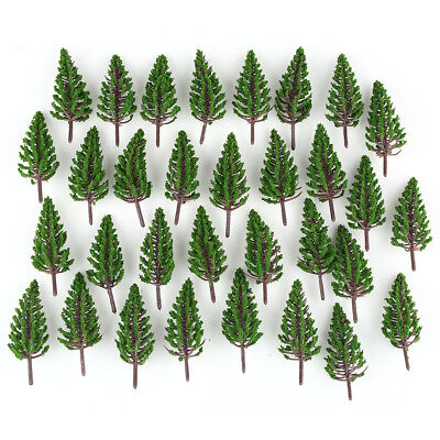 50pcs Model Pine Trees Model Train Park Trees for HO or OO Scale Scenery 78mm