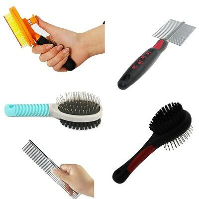 Pet Dog Cat  Hair Grooming Brush Comb Dog Remove Shedding Fur Cleaning Tool