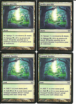 mtg Magic 4x Tranquil Garden ( Jardin Apacible )  GOOD