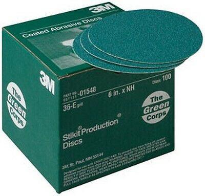 "3M 1548 Green Corps™ Stikit™ Production™ Disc 01548, 6"", 36E, 100 discs/bx"