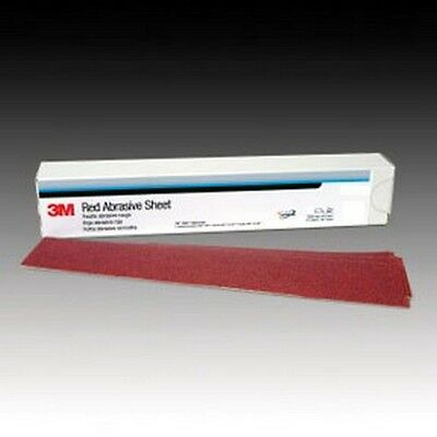 3M 1679 Red Abrasive Stikit™ Sheet, 2 3/4 in X 16 1/2 in, P80 D Weight, 25pc