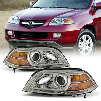2004-2006 Acura MDX [FACTORY STYLE] Clear Complete Headlights Assembly J35A3