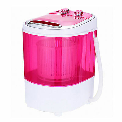 SHINIL SWM-748FR Pink Mini Washing Machine Washer Spin Dryer Timer Up to 1.2 Kg