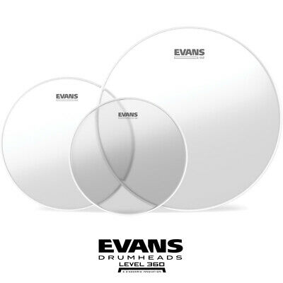 Evans G2 Clear Fusion Size Drum head Skin pack 10 12 14 inch skin G2CLR-F