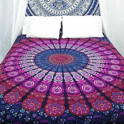 Twin Indian Mandala Bedspread Tapestry Wall Hanging Hippie bohemian Ethnic Throw