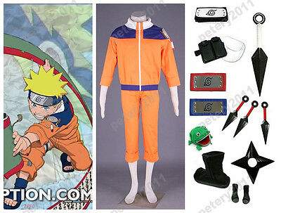 Custom-made Naruto Uzumaki Naruto Cosplay Costume Set