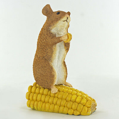 Hamster On Corn Sculpture Figurine Gift New Boxed 04103