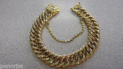 Beautiful Large 9 inch Estate Bracelet 18k Gold  Weighing 84 grams    Make Offer