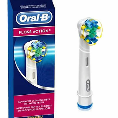 Braun Oral-B Floss Action Replacement Toothbrush Heads Individually Sealed, New