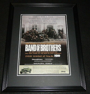 Band of Brothers 2001 Framed 11x14 ORIGINAL Advertisement HBO