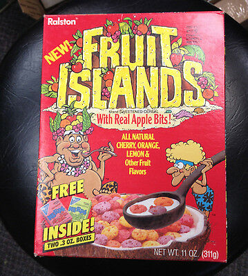 1987 Fruit Islands Cereal Box