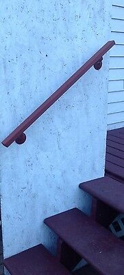 3FT Victoria Wrought Iron Handrail Wall Mount Red Primer Finish