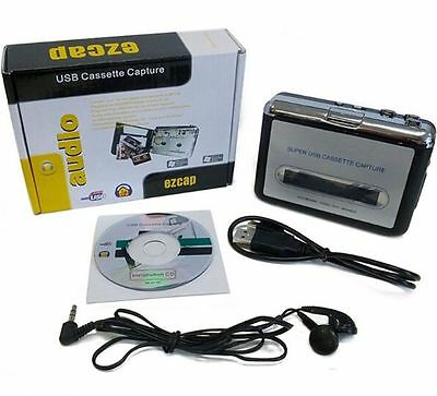 USB Cassette tape to MP3 converter player,Tape to PC Portable Capture recorder