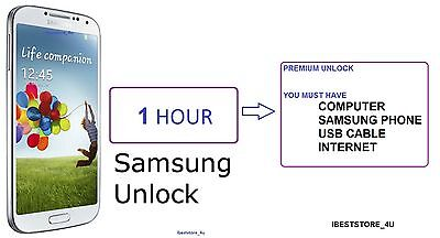 AT&T and T-Mobile USA SAMSUNG UNLOCKING CODE Galaxy S5 S4 S3 S2 i727 NOTE 3