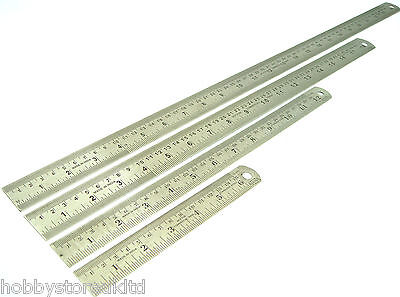 Steel Rule Steel Ruler Metal Ruler with Convertions Yard Stick Rule Inches MM CM