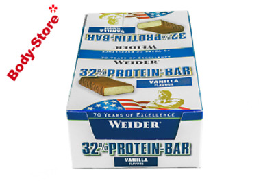 Weider 32% Protein Bar 24 Riegel a 60g Display Eiweissriegel