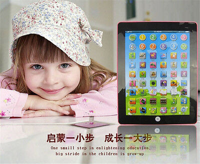 Tablet Pad Computer Learn English Educational Teach Toy Gift For Kid Child Baby