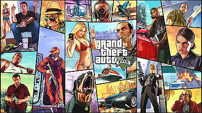 A3 Gta Grand Theft Auto Gaming Poster Print Wall Art - Buy 2 Get 1 Free!
