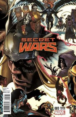 Secret Wars  #3   Nm New 2015 (Bianchi Variant)