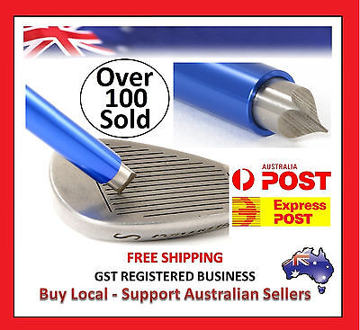BLUE GOLF CLUB IRON WEDGE GROOVE GROOVER SHARPENER - Dont Buy Cheap Copies