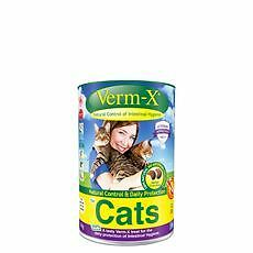 Verm-X Herbal Crunchies For Cats Pet Animal Cat & Dog Wormers/endoparasite