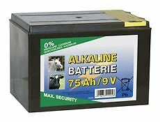 Corral Alkaline Dry Battery Equine Horse Fencing