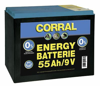 Corral Zinc-Carbon 55 Ah Dry Battery Equine Horse Fencing
