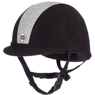 Charles Owen Yr8 Sparkly Black/shiny Silver Equine Horse Hats