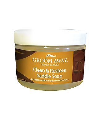 Groom Away Clean & Restore Saddle Soap Equine Horse Leather Care