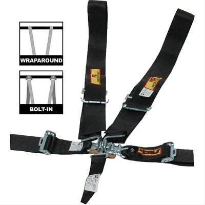 RCI Racing Shoulder Harness Dragster Belts 3 in. Latch 5 Point Black