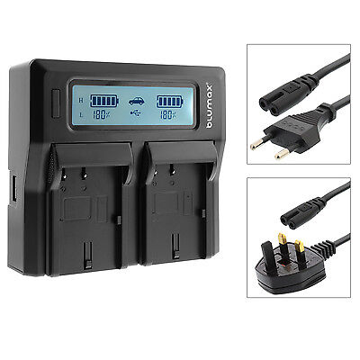 Dual Twin LCD Battery Charger with High and Low Modes for Sony NP-FV70 NP FV70