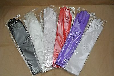 "Satin Gloves Below the Elbow Length 15""  wedding/pageant/costuming/party 1pair"