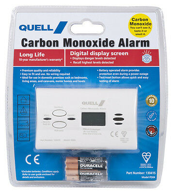 Carbon Monoxide Alarm-Detector Easy to fit, No wiring needed, Battery Operated
